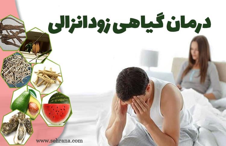 درمان گیاهی زودانزالی